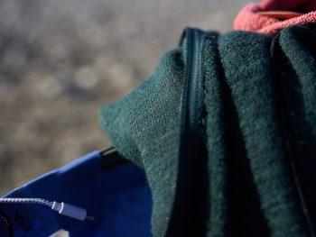 Ullfrotté woolpower Wollstrickjacke im Einsatz